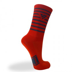 Versus Cycling Socks - Premium Race - Orange Stripes