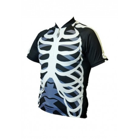 Skeleton Kids Cycling Shirt